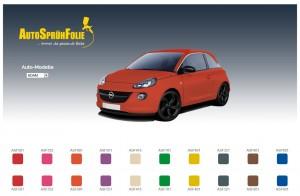 Auto Sprühfolie Farben