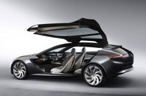 Opel Monza Concept Seitenansicht und Interieur