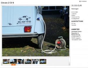 Screenshot e-ente auf mobile.de